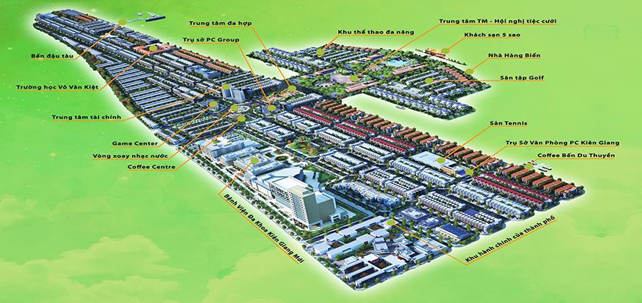 quy mô dự án khu đô thị phú cường kiên giang